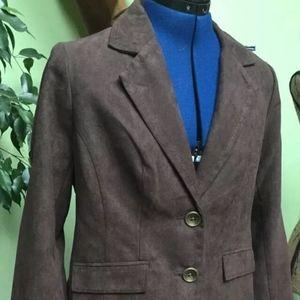 Studio Works Faux Suede Lined Blazer Jacket